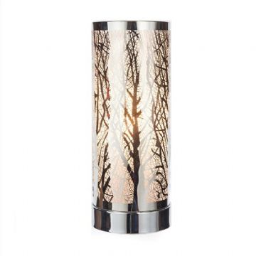 TREE Design Aroma Touch Lamp Electric Burner -  WHITE & SILVER